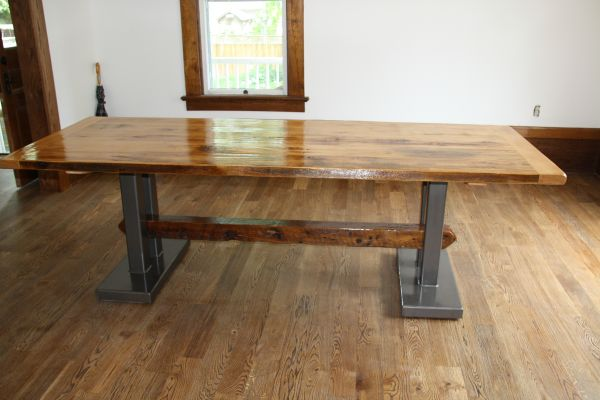 Provenance Harvest Tables Custom made reclaimed  : steeltrestle1 from provenanceharvesttables.com size 600 x 400 jpeg 34kB